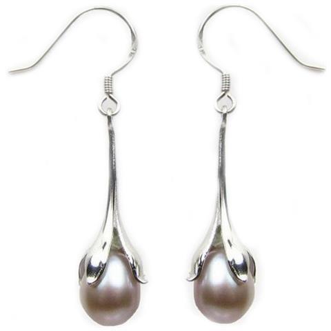 85fa6a99aa239f Blue Pearls - Orecchini Perla Coltivate Lavanda E Argento 925 - Bps 0172 Y  Lavande - ePRICE