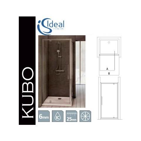 Kubo Box Doccia.Ideal Standard Porta Pivot Per Box Doccia Serie Kubo 80 Cm Cromo Lucido Lastra Trasparente