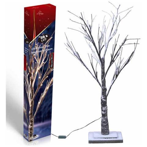 Albero Di Natale Bianco 90 Cm.Christmas Gifts Albero Di Natale 90cm Con 36 Led Luminosi Luce