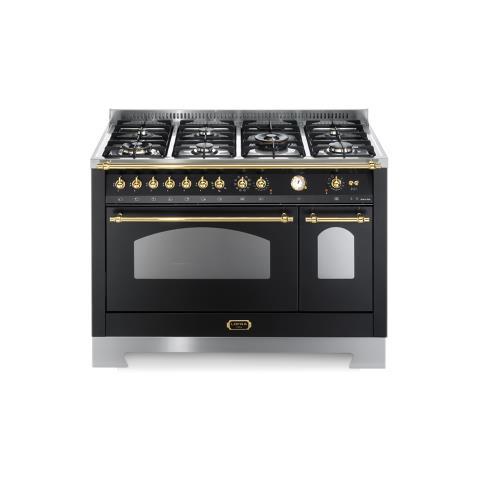 Lofra   Cucina Dolcevita 120x60 Nero Matt   Piano Cottura 7 Fuochi   2 Forni  Rnmd126mft+e / 2aeo   Lofra   EPRICE
