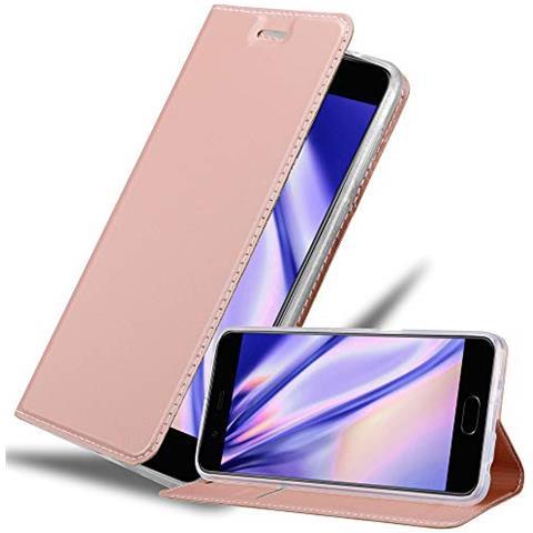 Cadorabo Custodia Libro Per Huawei P10 Plus In Classy Oro Rosa - Con Vani Di Carte, Funzione Stand E Chiusura Magnetica - Portafoglio Cover Case ...