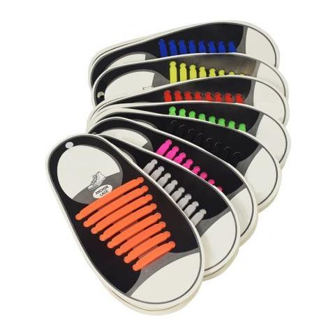 DOBO Lacci Per Scarpe Elastici Stringhe Colorati Niente Nodi Silicone  Facile Veloci. Zoom 3e9740804a9