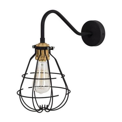 Homemania Lampada A Parete Modern Wall Applique Per Soggiorno Camera Nero Vintage In Metallo 42 X 18 X 36 Cm 1 X E27 Max 100 W Eprice