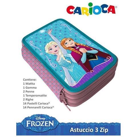 dbd314fc39 MALULED SHOP - Astuccio Frozen Porta Pastelli 3d - 36 Pezzi - 3 Zip  Cerniere Colori