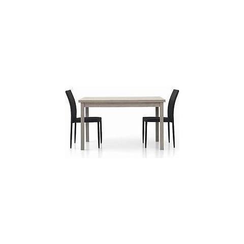 Tavolino Salotto Rovere Grigio.Estea Mobili Tavolo Legno Moderno 130x80 Allungabile Rovere Grigio Sala Salotto Cucina Temp