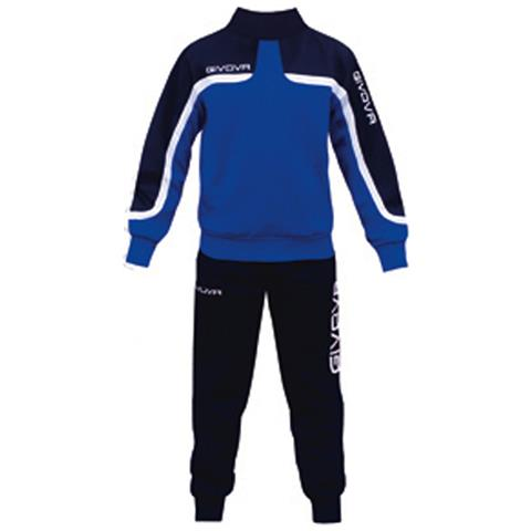 Home Shop Italia Tuta Oceania Givova Completo Di Giacca A Manica Lunga E Pantalone Di Colore Azzurro blu Taglia 3xs