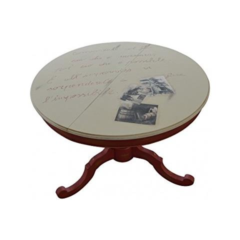 Vintagehome - Tavolo Rotondo In Legno Dim. 100 H78 Più Allunga - ePRICE