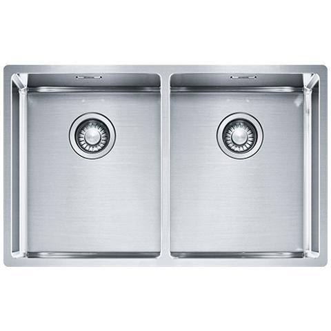 Perfect FRANKE   Lavello Box Da Incasso Semifilo Sottotop 2 Vasche BXX 220 120 34    EPRICE
