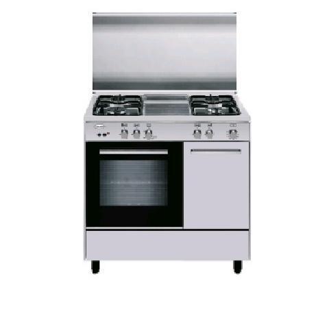 Glem Gas - Cucina AER96MI3 con 4 Fuochi a Gas e Forno Elettrico ...