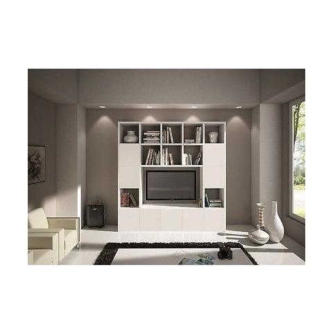 Estea Mobili - Libreria Parete Modern Soggiorno Porta Tv Legno ...