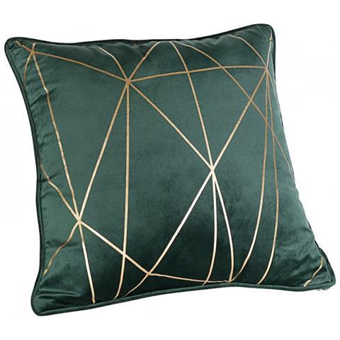 Cuscini Arredo Casa.Casa Collection Cuscino Arredo In Velluto Serie Luxe Verde E Oro