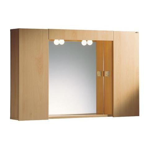 Specchio Bagno Con Ante.Benignimobili Specchio Bagno Con Portalampade Due Ante E 4