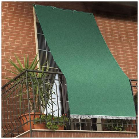 Tende Da Esterno Immagini.Il Gruppone Tenda Da Sole Tessuto Resistente Per Balcone Con Anelli Lavabile A Caduta Verde 140x250 Cm