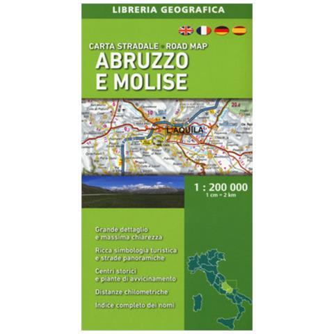 Cartina Turistica Abruzzo.Libreria Geografica Abruzzo E Molise 1 200 000