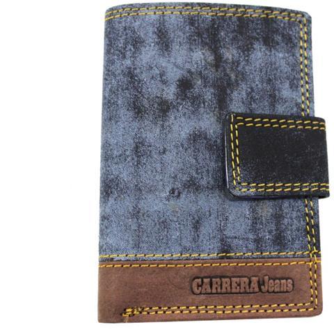 79cf98765de078 Carrera Portacarte Credito In Pelle Modello Con Clip Linea Jeans Cb427852  Blu