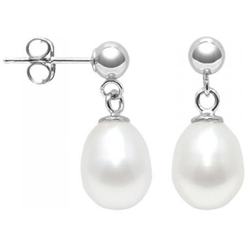 9101514f95e6da Blue Pearls - Orecchini Di Perle Coltivate Bianche E 925 Argento - Bps K327 W  Blanc - ePRICE