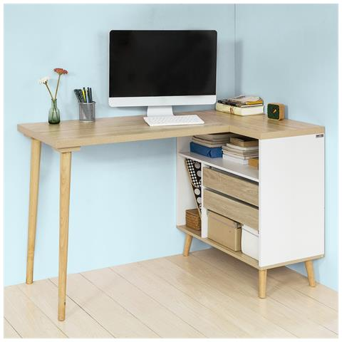 SoBuy - Scrivania, porta Pc, tavolo Per Computer, con Cassetti E ...