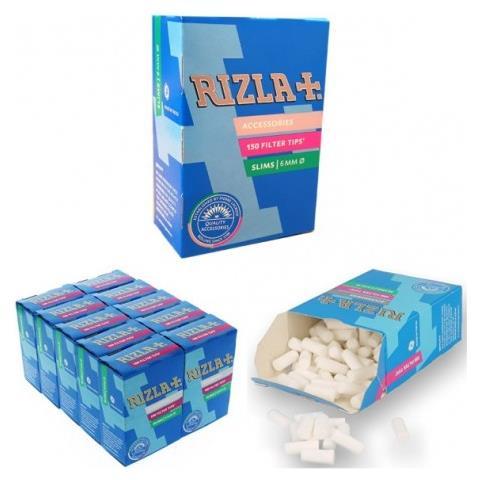 a9c5a3ef73ec Rizla - 1500 Filtri Slim In 10 Scatole Da 150 Filtri Per Sigarette ...