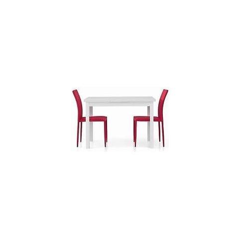 Mobili Tavolo Cucina.Estea Mobili Tavolo Legno 110x70 Moderno Allungabile Bianco Frassinato Salotto Cucina Temp