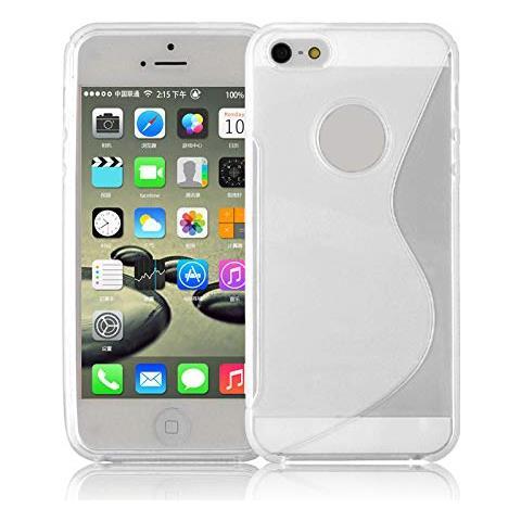 Cadorabo Apple Iphone 5 / 5s / Se Custodia Silicone Tpu Disegno S In Semi Transparente Morbida Cover Protettiva Super Sottile Con Bordo Protezione ...