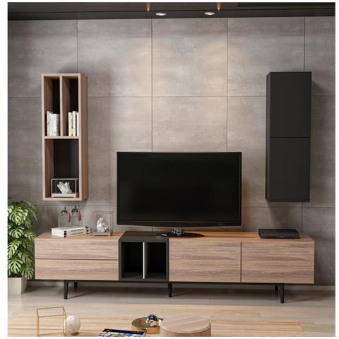 Mobile Porta Tv E Libreria.Homemania Mobile Porta Tv Diany Moderno Componibile Libreria