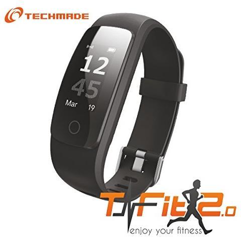 e05cfa2bc0 Techmade - Activity Tracker T-Fit 2.0 Resistente all'acqua IP67 Display  0.96