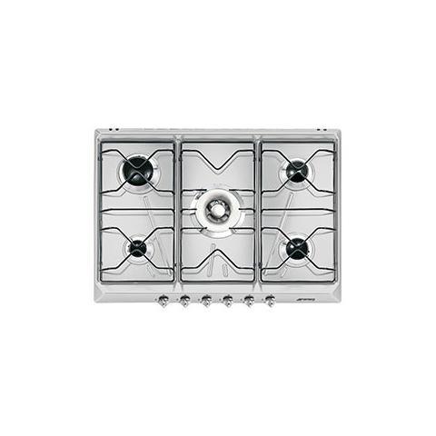 SMEG - Piano Cottura a Gas SRV576AL Serie Contemporanea 5 Fuochi Gas ...