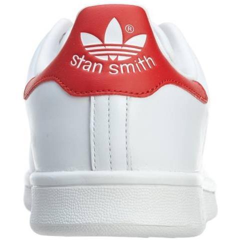Adidas Stan Smith Scarpe Sportive Uomo Bianche Rosse M20326 43,5