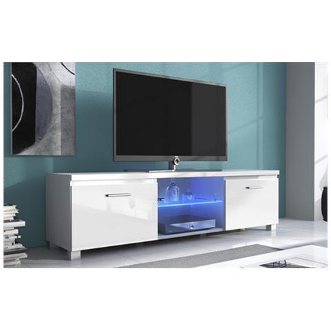 COMFORT - TV mobile LED - porta TV, soggiorno, bianco mate e bianco ...