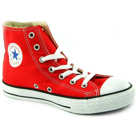 Converse All Star Ct Hi Alte Scarpe Uomo Donna Rossa Rosse Red Tela numero 43