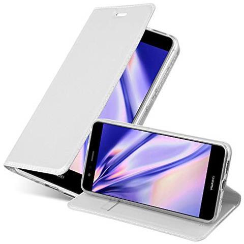Cadorabo Custodia Libro Per Huawei P10 Lite In Classy Argento - Con Vani Di Carte, Funzione Stand E Chiusura Magnetica - Portafoglio Cover Case Wallet ...
