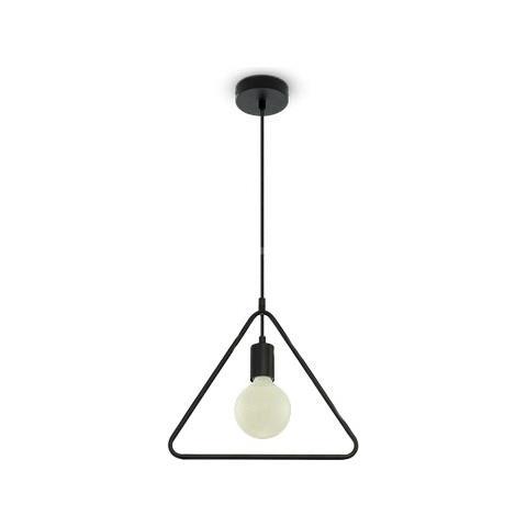 Lampadari Moderni Eleganti.Takestop Lampadario Metallo Geometrico Triangolo Nero Matto Elegante Lampada 3838 Sospensione Design Moderno 320x320x1350mm Attacco E27