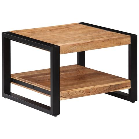 vidaXL Tavolo da caff/è Tavolino Salotto Legno Massello Acacia 90x50x40 cm