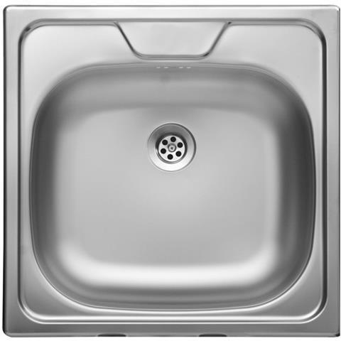 ARGONAUTA Lavello Da Cucina Una Vasca In Acciaio Inox Satinata Da Incasso  48x48 Cm