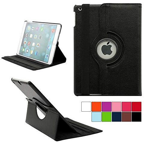 360 Rotazione Pelle Custodia Cover per Apple iPad 9.7 pollici iPad 5th generazione