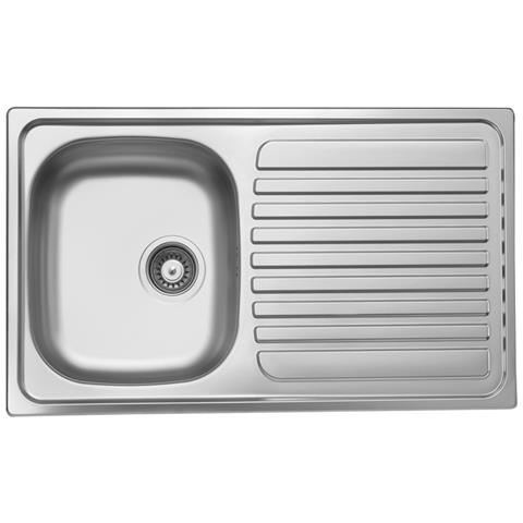 ARGONAUTA Lavello Cucina Vasca Acciaio Inox Da Incasso Gocciolatoio Dx  50x86 Cm