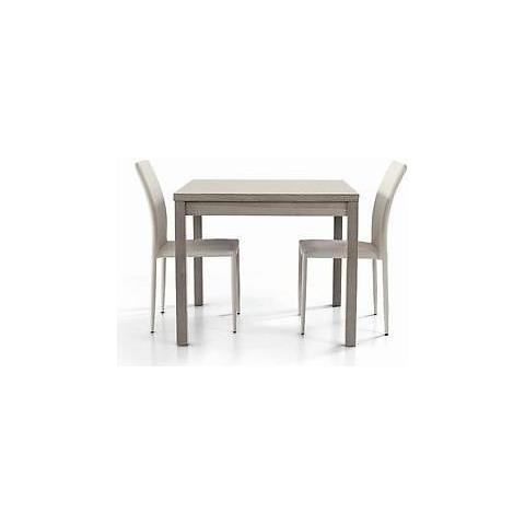 Estea Mobili Tavolo Legno Moderno Allungabile Rovere Grigio - X Sala  Salotto Cucina Temp