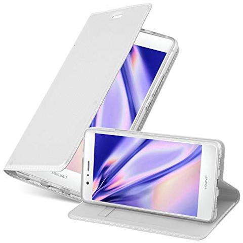 Cadorabo Custodia Libro Per Huawei P9 Lite In Classy Argento - Con Vani Di Carte, Funzione Stand E Chiusura Magnetica - Portafoglio Cover Case Wallet ...