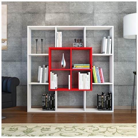 Homemania - Libreria Scaffale Con Ripiani Mensole Libri Leef Bianco ...