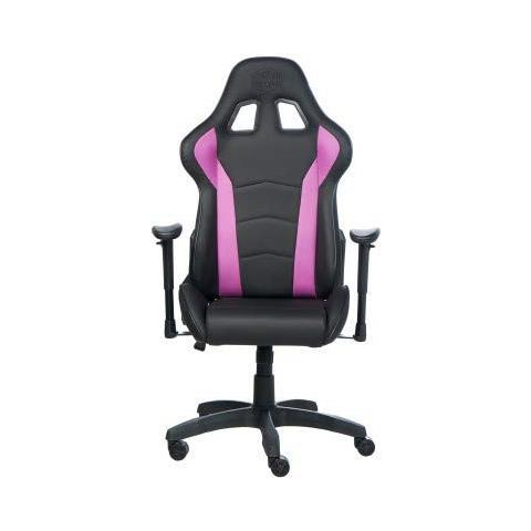 Sedia Gaming Caliber R1 in Pelle Sintetica Colore Nero e Viola