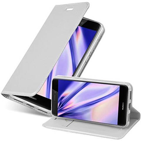 Cadorabo Custodia Libro Per Huawei P8 Lite 2017 In Classy Argento - Con Vani Di Carte, Funzione Stand E Chiusura Magnetica - Portafoglio Cover Case ...