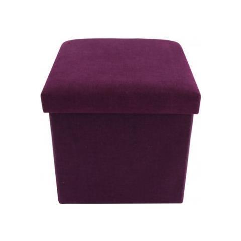 Letto Richiudibile A Cubo.Mobili Rebecca Pouff Pouf Sgabello Cubo Tessuto Viola Pieghevole