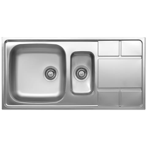 ARGONAUTA - Lavello Cucina Vasca E Vaschetta A Destra In Acciaio Da ...