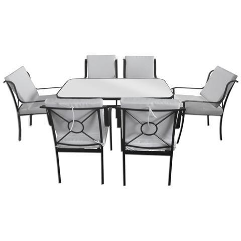 Sedie E Tavoli In Ferro Per Giardino.Loyalprice Tavolo Da Giardino Con 6 Sedie Ferro Per Esterno