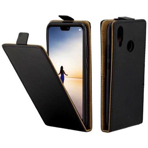 MECAWEB Custodia Cover Portafoglio Apertura Verticale Finta Pelle Per Smartphone Huawei P20 Lite