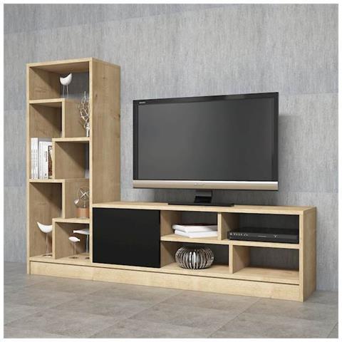 Homemania - Mobile Porta Tv Cd Ripiani Supporto Notex Legno Chiaro ...