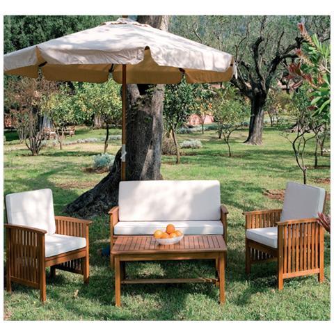 HOMEGARDEN - Salotto da giardino in legno per esterno divano 2 ...