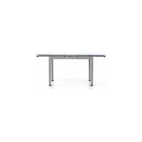 Tavolo Allungabile Moderno Cristallo.Estea Mobili Tavolo Metallo Grigio Piano Vetro Bianco Moderno