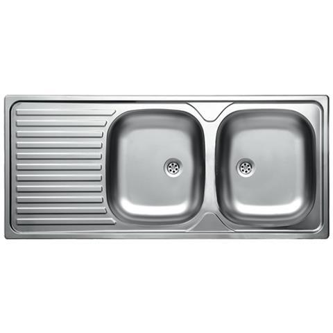 ARGONAUTA - Lavello Cucina Due Vasche Acciaio Da Incasso Con ...