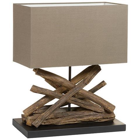 Lampada Da Scrivania Legno.Bigbuy Home Lampada Da Tavolo Legno Di Acacia 40 X 28 X 58 Cm